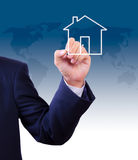 Hand drawing house icon Royalty Free Stock Photo