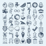 49 hand drawing icon set Royalty Free Stock Photos