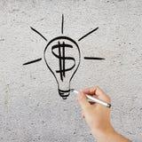 Hand drawing idea symbol Royalty Free Stock Photo