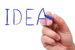 Hand drawing idea word Royalty Free Stock Photo