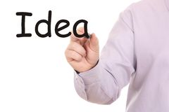 Hand drawing idea word Royalty Free Stock Images