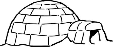 Hand Drawing Of An Igloo Royalty Free Stock Photography