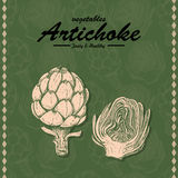 Hand drawing illustration of artichoke Stock Photography