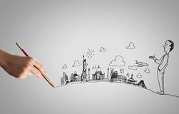 Hand drawing images Stock Photo