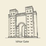 Ishtar Gate of Babylonian royalty free stock image
