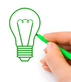 Hand drawing lamp Royalty Free Stock Photography