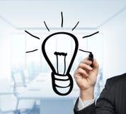 Hand drawing lamp Stock Image