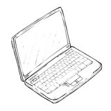 Hand drawing laptop Stock Photos