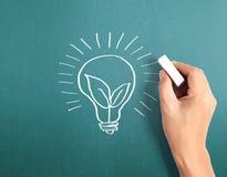 Hand drawing  light bulb Stock Photo