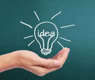 Hand drawing  light bulb Royalty Free Stock Images