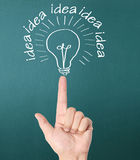 Hand drawing  light bulb Stock Image