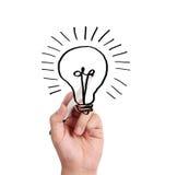 Hand drawing  light bulb Stock Photos
