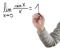 Hand drawing limit equation. Royalty Free Stock Photos