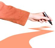 Hand Drawing Line Stock Image