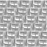 Hand drawing with lines. Wattle fabric stock illustration