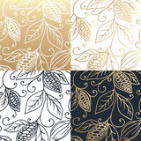 Hand drawing logo designes of cocoa beans. Royalty Free Stock Photography