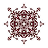 Hand drawing mandala element, silhouette in marsala color. Italian majolica style Royalty Free Stock Images
