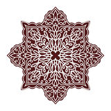Hand drawing mandala element, silhouette in marsala color. Italian majolica style Royalty Free Stock Image