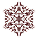 Hand drawing mandala element, silhouette in marsala color. Italian majolica style Royalty Free Stock Photography