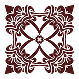 Hand drawing mandala element, silhouette in marsala color. Italian majolica style Royalty Free Stock Photos