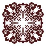 Hand drawing mandala element, silhouette in marsala color. Italian majolica style Royalty Free Stock Photo