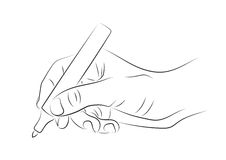 Hand drawing with marker Royalty Free Stock Photography