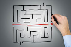 Hand drawing maze Royalty Free Stock Photography