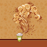 Seamless pastry and coffee waves concept Stock Photography