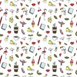 Hand drawing objects . Human and nature . Element of seamless pattern. vector illustration