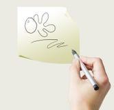 Hand drawing ok Royalty Free Stock Photos