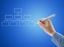 hand drawing an organization chart Royalty Free Stock Images