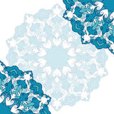 Hand-drawing ornamental abstract lace background for use in design Stock Image