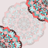 Hand-drawing ornamental abstract lace background for use in design Stock Photography