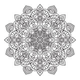 Hand drawing ornate mandala element in eastern style Royalty Free Stock Image