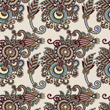 Hand drawing ornate seamless flower paisley design Stock Photography