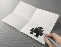 Hand drawing Partnership Puzzle Stock Images