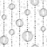 Hand drawing pattern with threads and bead. Hand drawing pattern with threads ,bead and grey spots vector stock illustration