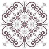 Hand drawing pattern for tile in black and white colors. Italian majolica style. Hand drawing pattern for tile in black and white colors. Isolated on background vector illustration