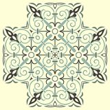 Hand drawing pattern for tile in black and white colors. Italian majolica style. Vector illustration. The best for your design, textiles, posters vector illustration