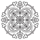 Hand drawing pattern for tile in black and white colors. Italian majolica style Stock Images