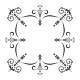 Hand drawing pattern for tile in black and white colors. Italian majolica style Royalty Free Stock Photos