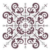 Hand drawing pattern for tile in black and white colors. Italian majolica style Royalty Free Stock Photography