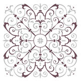 Hand drawing pattern for tile in dark brown, gray, black and white colors. Italian majolica style Royalty Free Stock Photography