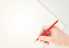Hand drawing with pencil Royalty Free Stock Photography