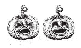 Hand drawing pumpkin set Royalty Free Stock Photo