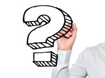 Hand drawing question mark Royalty Free Stock Photo