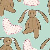 Hand drawing rabbit toys childish seamless pattern Royalty Free Stock Image