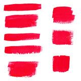 Hand-drawing red textures of brush strokes in random shape. Vector illustration of Hand-drawing red textures of brush strokes in random shape Royalty Free Stock Image