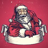 Hand drawing of Santa claus with text space Stock Images