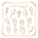 Hand drawing set of ice cream Stock Photo